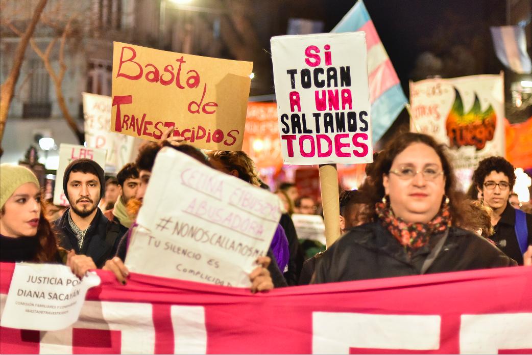 Marcha contra los travesticidios